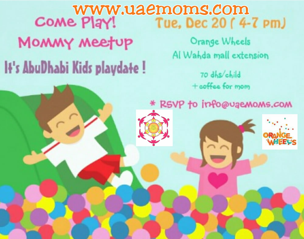 Play Date | Winter Break | Orange Wheels | UAE MOMS | #1 Social Community Group for all Women in UAE