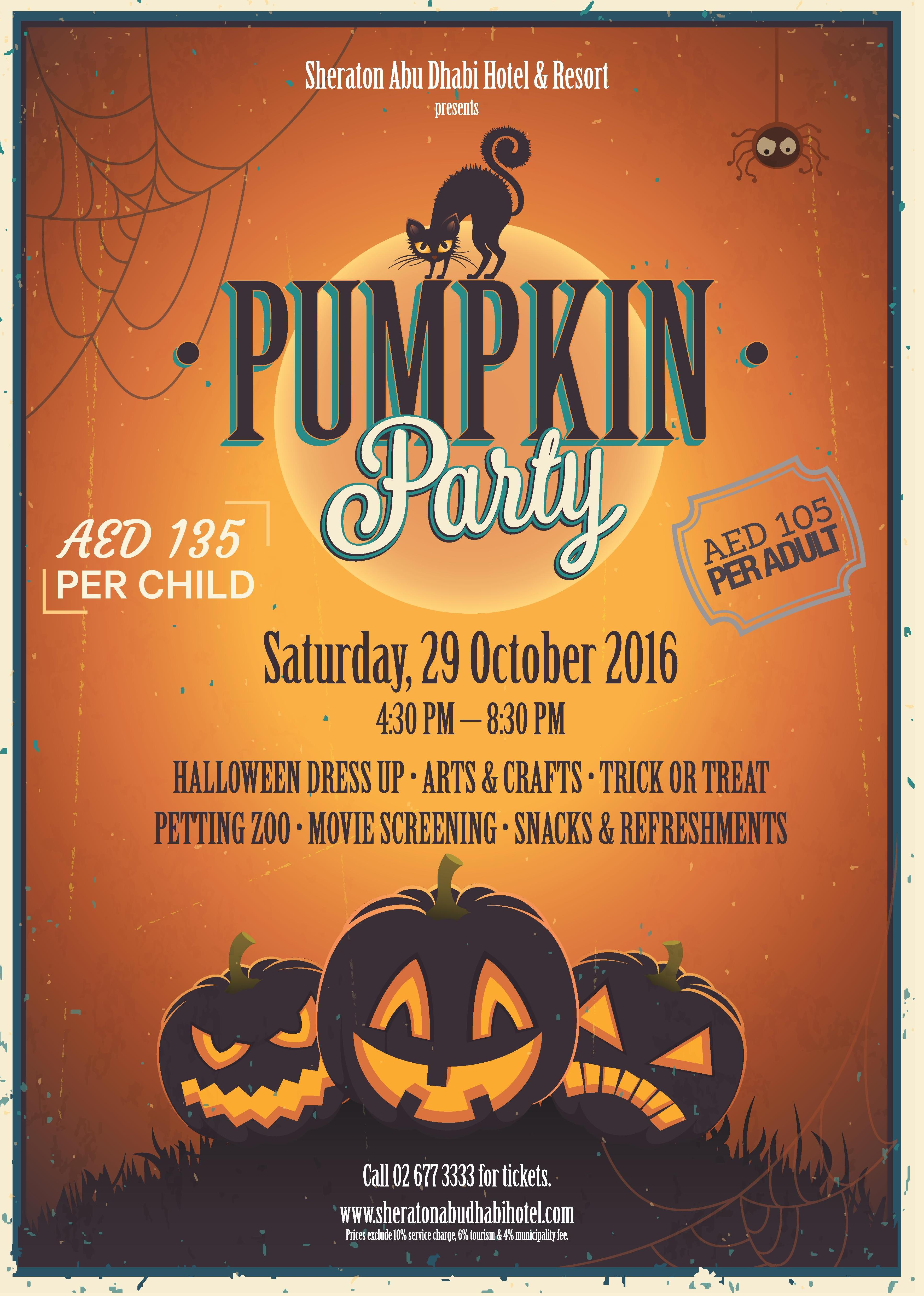 Pumpkin Party by Sheraton Abu Dhabi hotel & resort | UAE MOMS | #1 Social Community Group for all Women in UAE