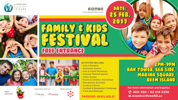 Family & Kids Festival ( Three60) | UAE MOMS | #1 Social Community Group for all Women in UAE