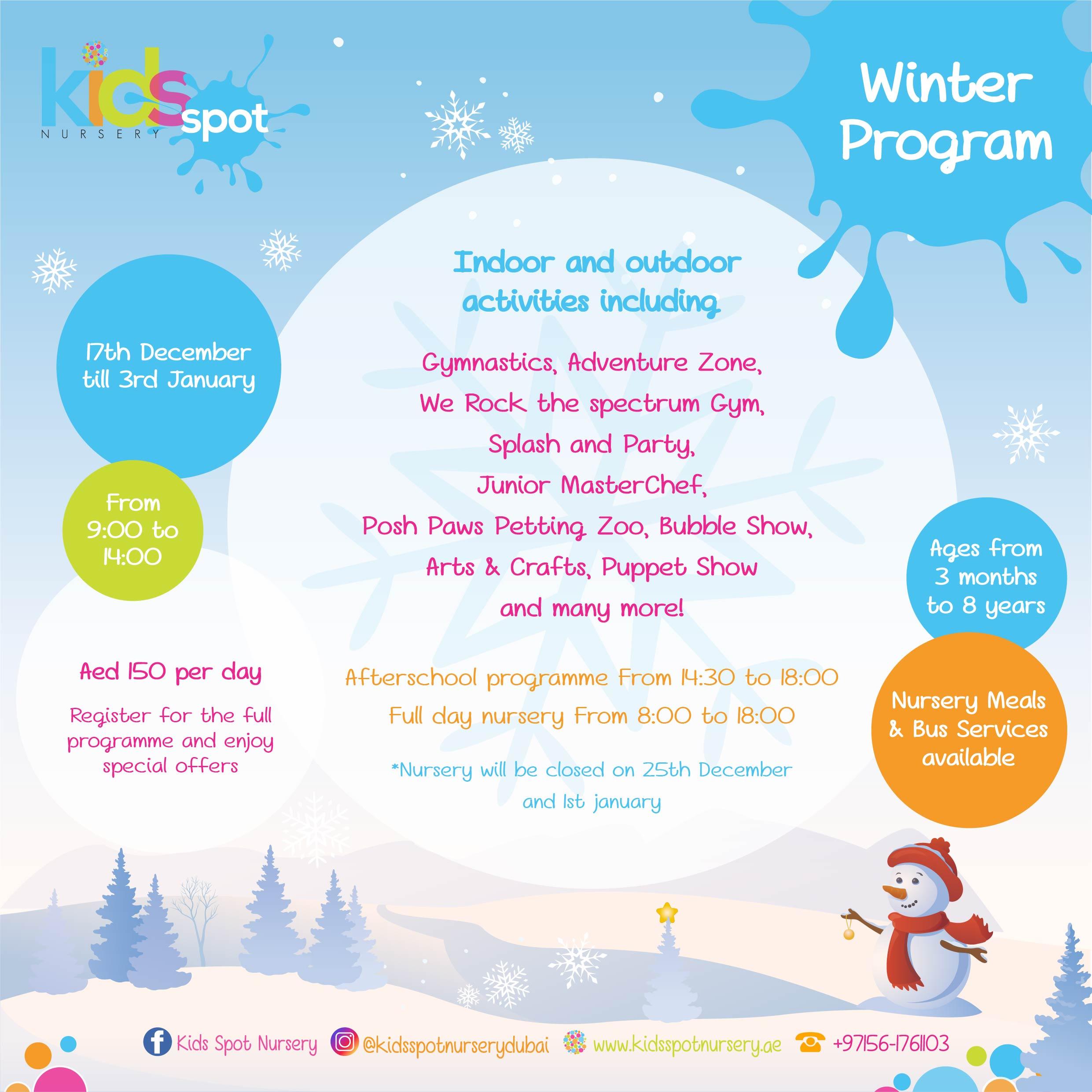 Winter Program – Flyer 2018