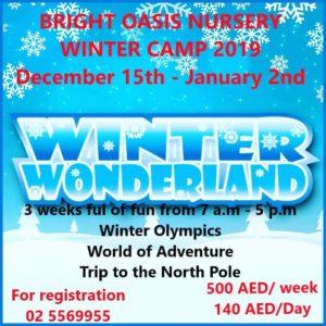Winter wonderland camp